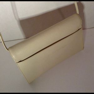 Givenchy Bags - GIVENCHY - Vintage Cream Leather Bag/Clutch